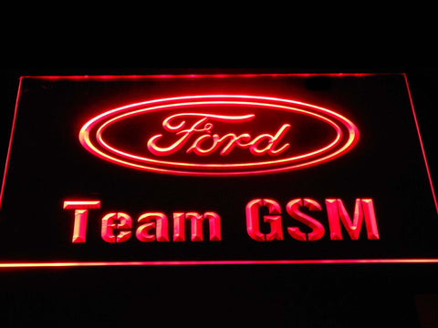 Image of Ford Team GSM LED Neon Sign - Red - SafeSpecial