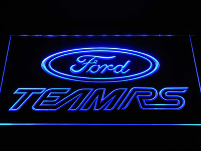 Ford Team RS LED Neon Sign - Blue - SafeSpecial