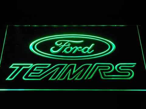 Image of Ford Team RS LED Neon Sign - Green - SafeSpecial
