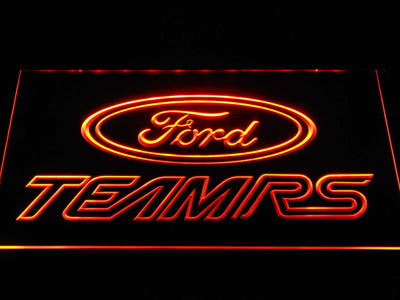 Ford Team RS LED Neon Sign - Orange - SafeSpecial