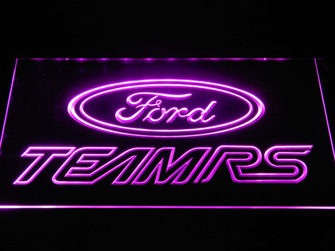 Image of Ford Team RS LED Neon Sign - Purple - SafeSpecial