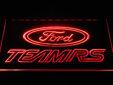 Image of Ford Team RS LED Neon Sign - Red - SafeSpecial