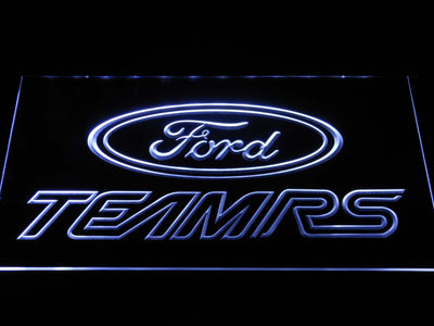 Ford Team RS LED Neon Sign - White - SafeSpecial
