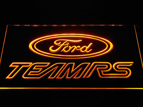 Image of Ford Team RS LED Neon Sign - Yellow - SafeSpecial