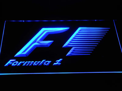 Formula 1 LED Neon Sign - Blue - SafeSpecial
