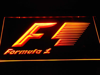 Formula 1 LED Neon Sign - Orange - SafeSpecial