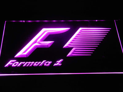 Formula 1 LED Neon Sign - Purple - SafeSpecial
