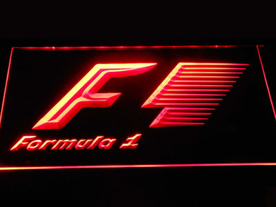 Formula 1 LED Neon Sign - Red - SafeSpecial