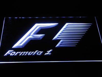 Formula 1 LED Neon Sign - White - SafeSpecial