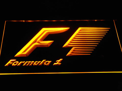 Image of Formula 1 LED Neon Sign - Yellow - SafeSpecial