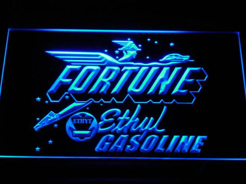 Fortune Ethyl Gasoline LED Neon Sign - Blue - SafeSpecial