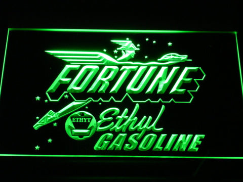 Fortune Ethyl Gasoline LED Neon Sign - Green - SafeSpecial