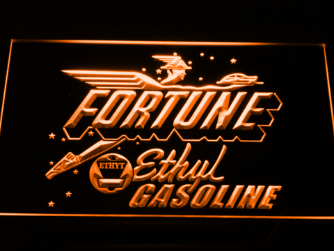 Fortune Ethyl Gasoline LED Neon Sign - Orange - SafeSpecial