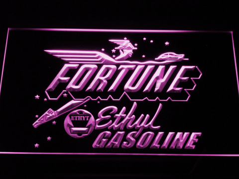 Fortune Ethyl Gasoline LED Neon Sign - Purple - SafeSpecial