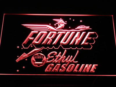 Fortune Ethyl Gasoline LED Neon Sign - Red - SafeSpecial
