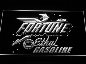 Fortune Ethyl Gasoline LED Neon Sign - White - SafeSpecial