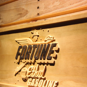 Fortune Ethyl Gasoline Wooden Sign - - SafeSpecial
