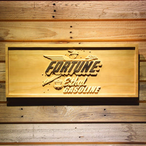 Fortune Ethyl Gasoline Wooden Sign - Small - SafeSpecial
