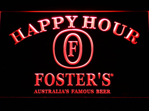 Image of Foster's Happy Hour LED Neon Sign - Red - SafeSpecial