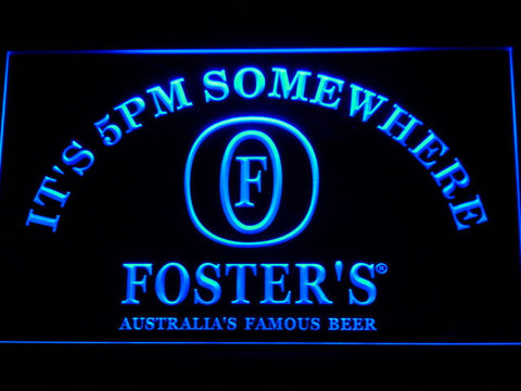 Image of Foster's It's 5pm Somewhere LED Neon Sign - Blue - SafeSpecial