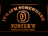 Foster's It's 5pm Somewhere LED Neon Sign - Orange - SafeSpecial