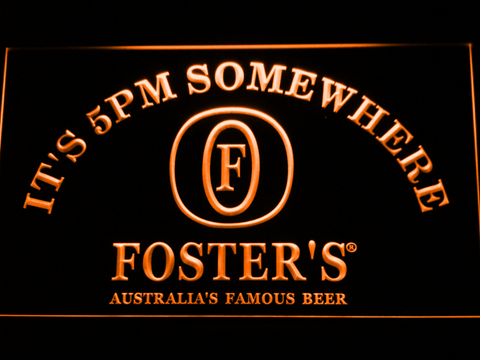 Image of Foster's It's 5pm Somewhere LED Neon Sign - Orange - SafeSpecial