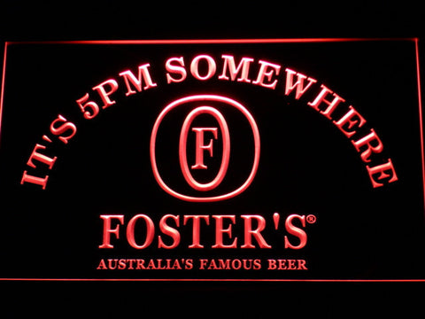 Image of Foster's It's 5pm Somewhere LED Neon Sign - Red - SafeSpecial