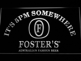 Foster's It's 5pm Somewhere LED Neon Sign - White - SafeSpecial
