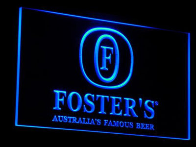 Foster's LED Neon Sign - Blue - SafeSpecial