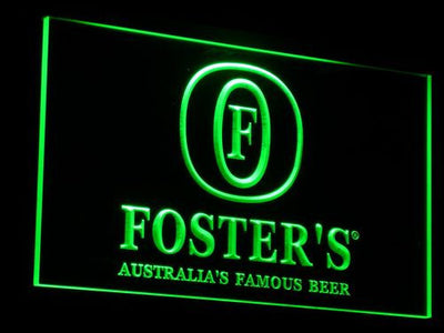 Foster's LED Neon Sign - Green - SafeSpecial