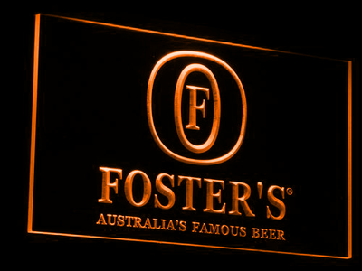 Foster's LED Neon Sign - Orange - SafeSpecial