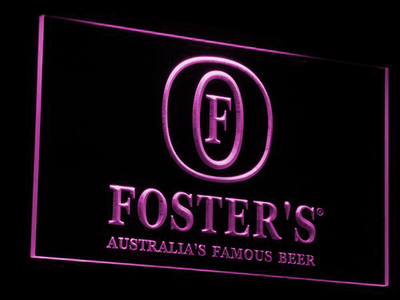 Foster's LED Neon Sign - Purple - SafeSpecial