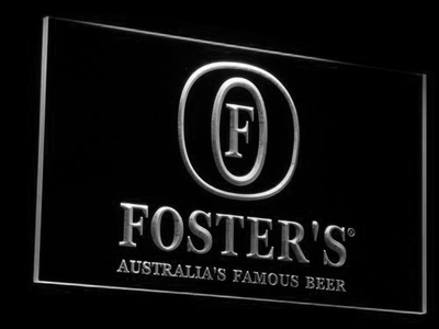Foster's LED Neon Sign - White - SafeSpecial