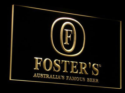 Foster's LED Neon Sign - Yellow - SafeSpecial