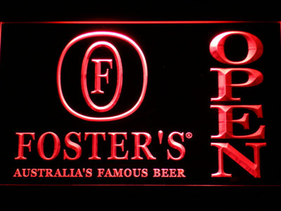 Foster's Open LED Neon Sign - Red - SafeSpecial
