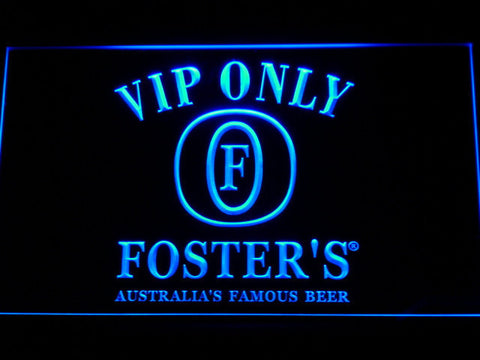 Foster's VIP Only LED Neon Sign - Blue - SafeSpecial