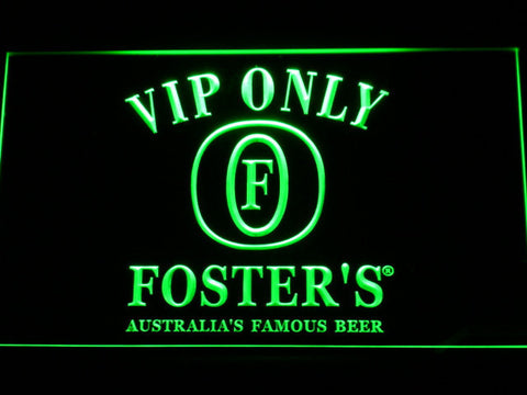 Foster's VIP Only LED Neon Sign - Green - SafeSpecial
