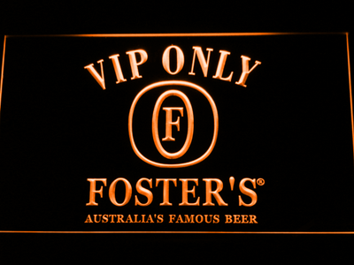 Foster's VIP Only LED Neon Sign - Orange - SafeSpecial