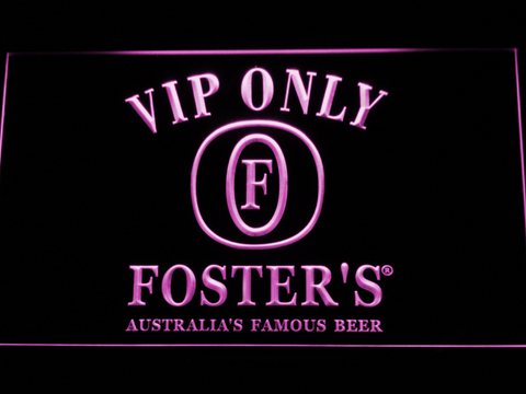 Image of Foster's VIP Only LED Neon Sign - Purple - SafeSpecial