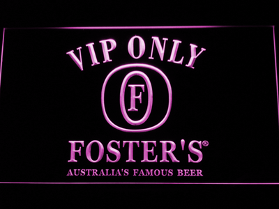 Foster's VIP Only LED Neon Sign - Purple - SafeSpecial