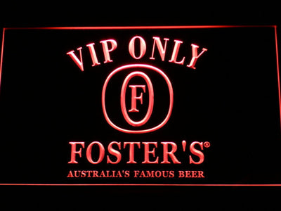 Foster's VIP Only LED Neon Sign - Red - SafeSpecial