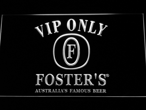 Foster's VIP Only LED Neon Sign - White - SafeSpecial