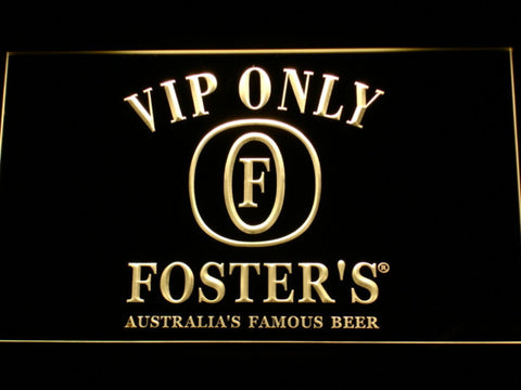 Foster's VIP Only LED Neon Sign - Yellow - SafeSpecial