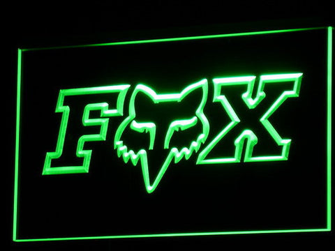 Image of Fox LED Neon Sign - Green - SafeSpecial