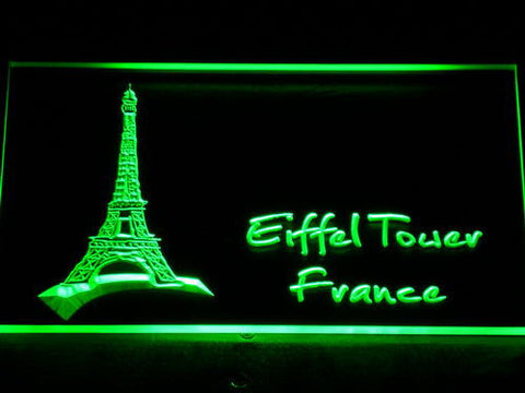France Eiffel Tower LED Neon Sign - Green - SafeSpecial