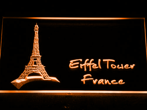 France Eiffel Tower LED Neon Sign - Orange - SafeSpecial