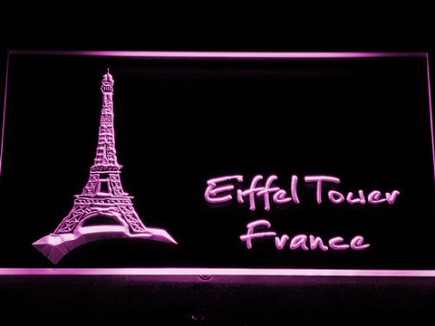 France Eiffel Tower LED Neon Sign - Purple - SafeSpecial