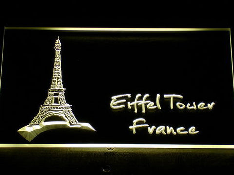 France Eiffel Tower LED Neon Sign - Yellow - SafeSpecial