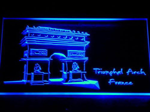 Image of France Triumphal Arch LED Neon Sign - Blue - SafeSpecial