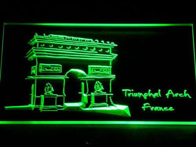 France Triumphal Arch LED Neon Sign - Green - SafeSpecial